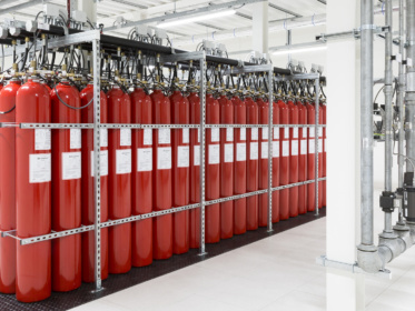 Extinguishing gas system