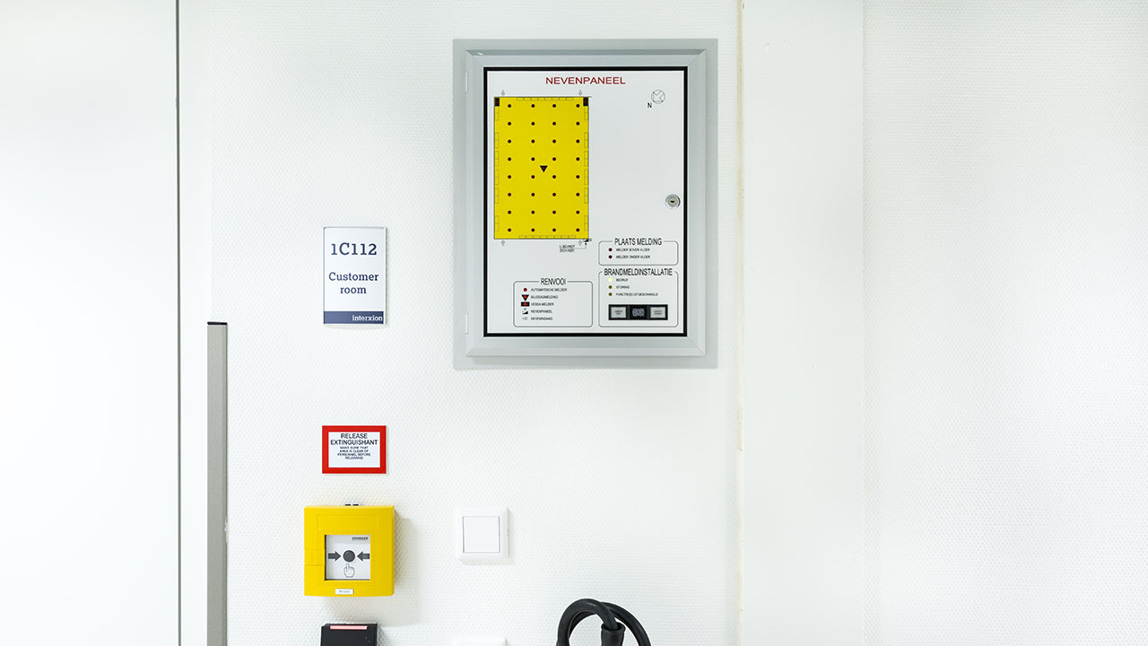 Een state-of-the-art datacenter met hoog gevoelige branddetectie en brandblusvoorzieningen 7