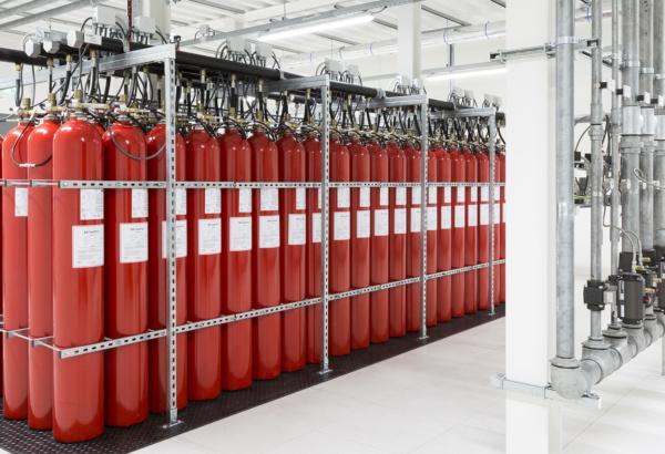 Een state-of-the-art datacenter met hoog gevoelige branddetectie en brandblusvoorzieningen 10