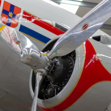 Fire protection of historic DC-3 Dakota aircraft