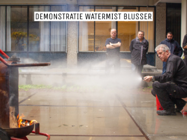 Demonstratie Watermist blusser