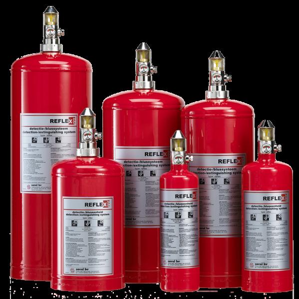 Reflex extinguishing gas