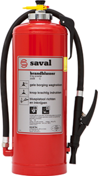 P powder extinguisher SST (BC)
