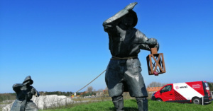 Standbeeld op Ameland