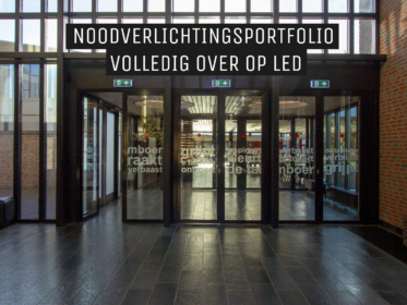 Noodverlichting Saval over op LED