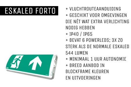 Kenmerken Eskaled Forto noodverlichtingsarmatuur