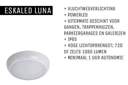 Kenmerken Eskaled Luna noodverlichtingsarmatuur