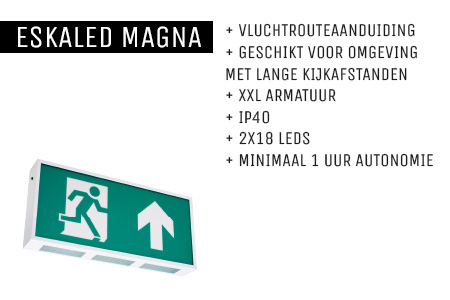 Kenmerken Eskaled Magna noodverlichtingsarmatuur
