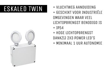 Kenmerken Eskaled Twin noodverlichtingsarmatuur