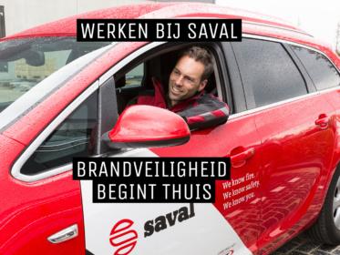 Saval monteur onderweg naar klant