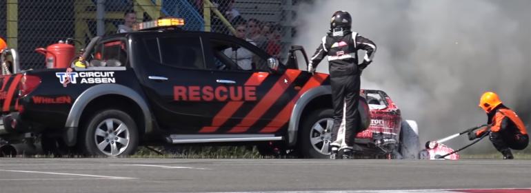 Inzet Rescue Car bij TT-Circuit