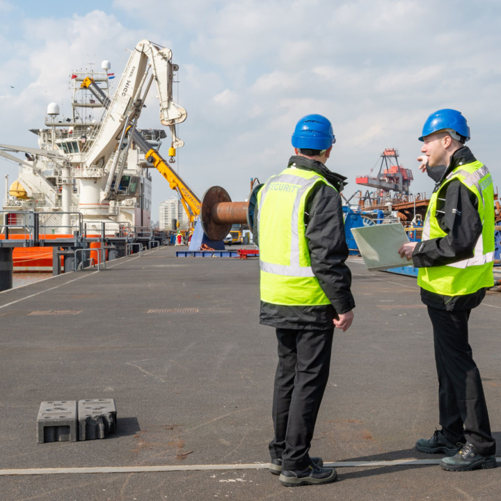 Royaal Security in de haven