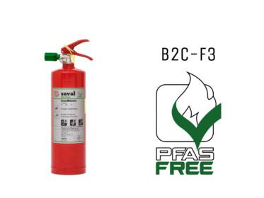 De F3 fluorvrije schuimblusser is nu ook verkrijgbaar in 2 liter uitvoering