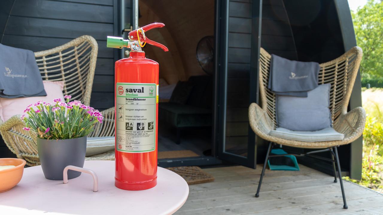 PFAS-vrije brandblussers voor vakantiepark Kampinastaete 8