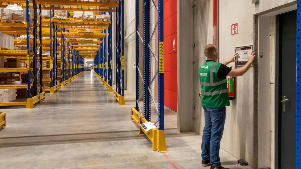 Ontruimingsplattegronden voor Ceva Logistics Heerlen 4